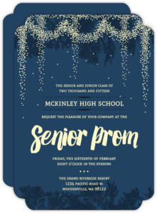 Whimsical Outdoor Night Light Prom Invitation