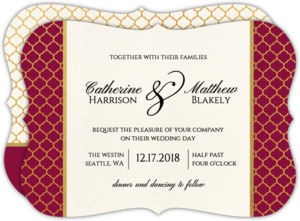 Classic Typography Christmas Wedding Invitation