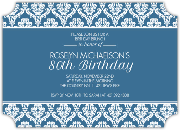 Teal and texture 80th birthday invitation 80th birthday invitations teal and texture 80th birthday invitation filmwisefo