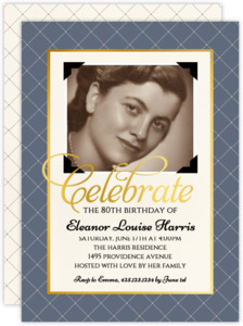 Vintage Photo Birthday Party Invitation
