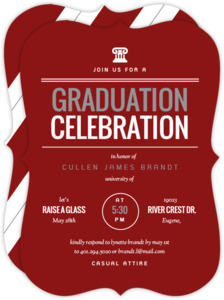 Modern Type Law School Graduation Invitation