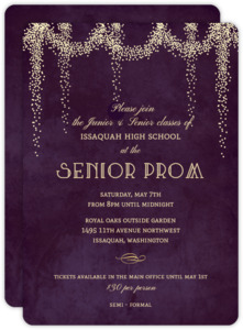 Fancy Starburst Lights Prom Invitation
