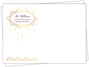 Elegant Purple & Gold Custom Envelope