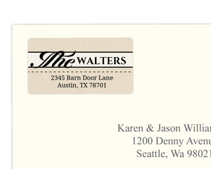 Western Love Address Label