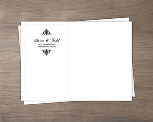 Black Floral Monogram Custom Envelope