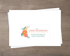 Mint Green Country Floral Return Envelope