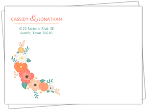 Mint Green Country Floral Custom Envelope