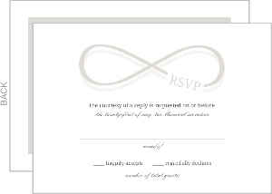 Infinity Monogram Champagne Wedding Response Card