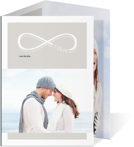 Infinity Monogram Champagne Save The Date
