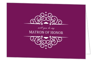 Elegant Frame Will You Be My Matron Of Honor Card