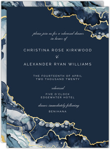 Modern Ink Geode Rehearsal Dinner Invitation