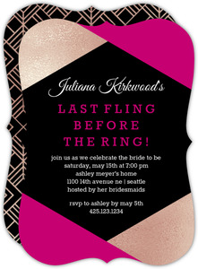 Modern Last Fling Bachelorette Party Invitation