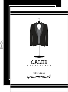 Tux Jacket Will You Be My Ring Bearer Card
