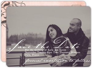 Pink Black Parisian Themed Save The Date Announcement