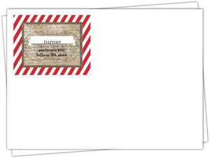 Red Stripe Rustic Pirate Custom Envelope