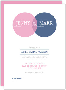 Simple Circle Monogram Wedding Invitation