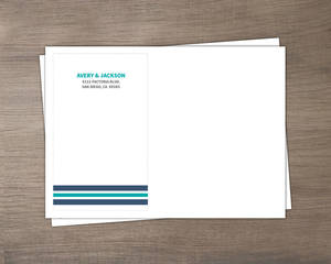 Blue Nautical Anchor Custom Envelope