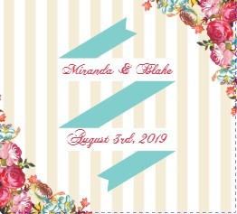 Pink Romantic Flowers Wedding Program