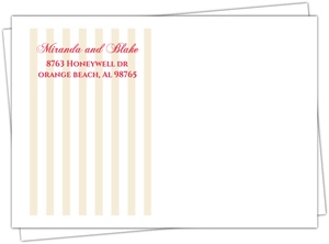 Pink Romantic Flowers Custom Envelope