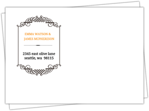 Black Skull Monogram Frame Halloween Custom Envelope
