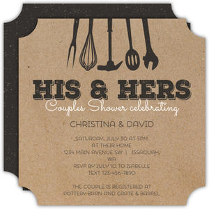 His Her Tools Couples Shower Invitation