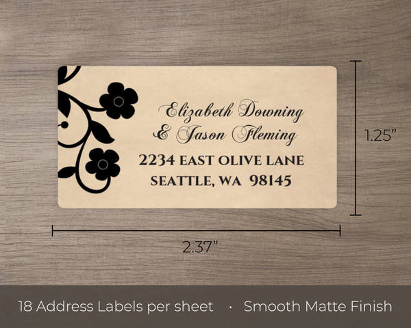 Rustic Skulls Day of the Dead Halloween Address Label