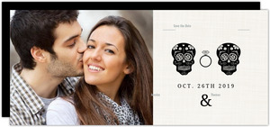 Elegant and Creepy Bride and Groom Save the Date