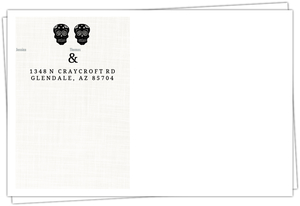 Elegant and Creepy Bride and Groom Envelope
