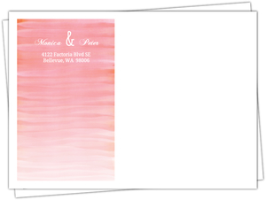 Monogram Pink Watercolor Ombre Custom Envelope