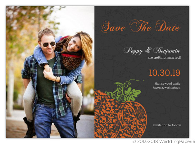 Regal Halloween Save The Date Announcement Save The Date Cards