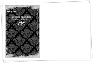 Fancy Gray Candles Halloween Envelope