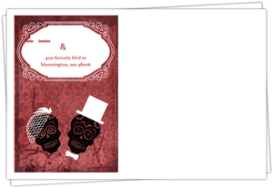 Dia de los Muertos Bride Groom Red Halloween Custom Envelope