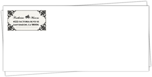 Classic Ecru and Black Flourishes Halloween Custom Envelope