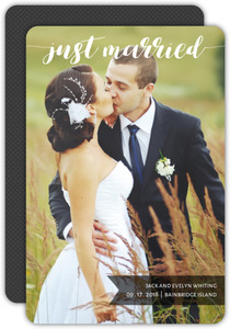 Just Married Script Wedding announcement