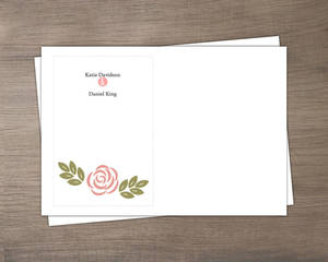 Floral Monogram Bouquet Custom Envelope