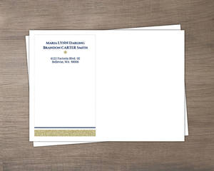 Gold Shimmer Custom Envelope