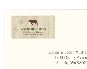 Woodland Animals Woodgrain Address Label