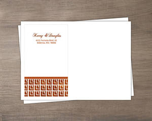 Geometric Rustic Copper Pattern Custom Envelope