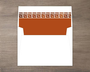 Geometric Rustic Copper Pattern Envelope Liner