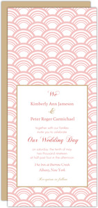 Art Deco Pattern Pink Wedding Invitation