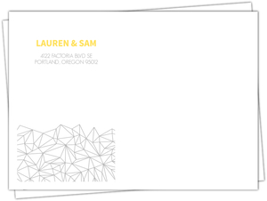 Lemon and Gray Triangular Modern Custom Envelope