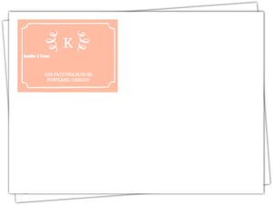 Gray Brown Feathered Modern Custom Envelope