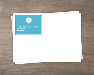 Blue Watercolor Hot Air Balloon Custom Envelope