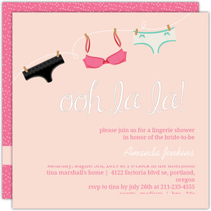 Pretty Pink Lingerie Bridal Shower Invitation