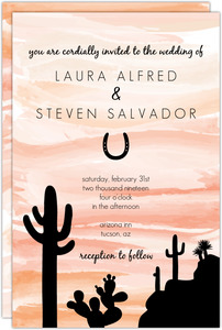 Orange Sky Desert Wedding Invitation