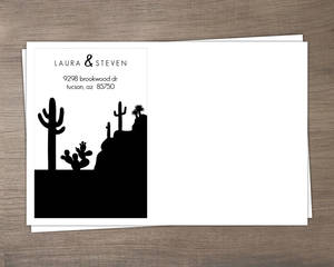 Orange Sky Desert Envelope