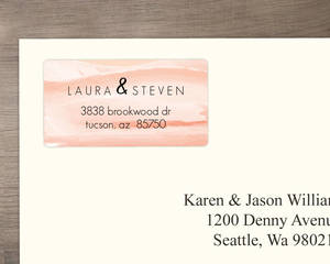 Orange Sky Desert Address Label
