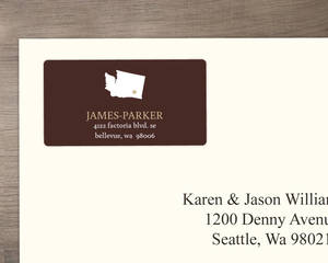 Modern Statement Address Label