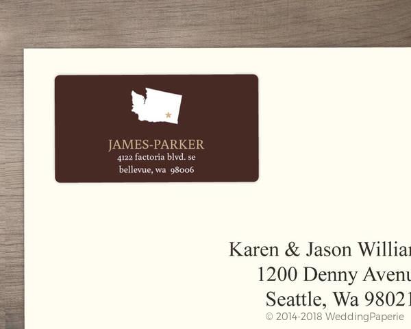modern statement address label wedding address labels