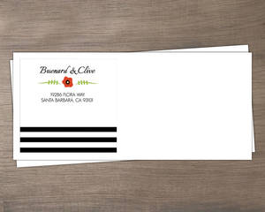 Flower and Black Stripes Envelope
